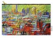 Lyon Sunrise Glow - Modern Impressionist Stylized Cityscape Carry-all Pouch
