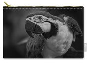 Macaw Portrait In Black And White Carry-all Pouch