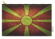 Macedonia Distressed Flag Dehner Carry-all Pouch