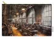 Machinist - A Room Full Of Lathes  Carry-all Pouch by Mike Savad