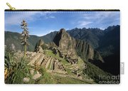 Machu Picchu And Bromeliad Carry-all Pouch