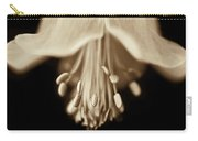 Macro Columbine Flower Sepia Carry-all Pouch