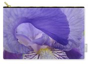 Macro Irises Close Up Purple Iris Flowers Giclee Art Prints Baslee Troutman Carry-all Pouch