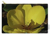 Macro Of A Flowering Yellow Tulip Up Close Carry-all Pouch