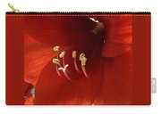 Macro Of Red Amaryllis Flower Carry-all Pouch