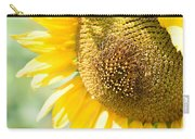 Macro Photography Of Sunflower Carry-all Pouch
