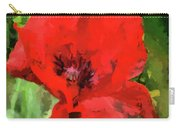 Macro Poppy Carry-all Pouch