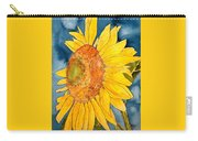 Macro Sunflower Art Carry-all Pouch