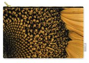 Macro Sunflower Carry-all Pouch