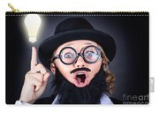 Mad Professor With Light Bulb Breakthrough Carry-all Pouch