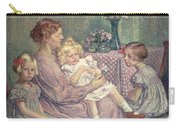 Madame Van De Velde And Her Children Carry-all Pouch by Theo van Rysselberghe
