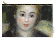 Mademoiselle Henriot Or Young Girl With A Blue Ribbon Carry-all Pouch
