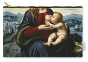 Madonna And Child Before A Landscape Carry-all Pouch