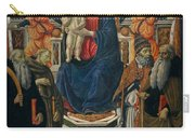 Madonna And Child Enthroned With Saints And Angels Carry-all Pouch