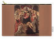 Madonna And Child Enthroned With Saints Fra Filippo Lippi Carry-all Pouch