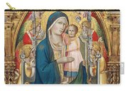 Madonna And Child Enthroned With Twelve Angels Carry-all Pouch