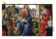 Madonna And Child Carry-all Pouch by Filippino Lippi