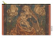 Madonna And Child Seated On A Grassy Bank With Angels Carry-all Pouch