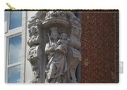 Madonna And Child Statue On The Corner Of A House In Bruges Carry-all Pouch