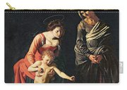 Madonna And Child With A Serpent Carry-all Pouch by Michelangelo Merisi da Caravaggio