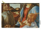 Madonna And Child With An Angel Carry-all Pouch