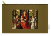 Madonna And Child With Angelsdetalj 5 Ngw Hans Memling Carry-all Pouch