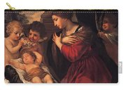 Madonna And Child With Child And Angles Carry-all Pouch