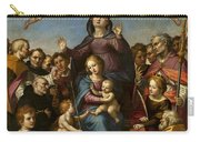 Madonna And Child With Saint Anne And The Patron Saints Of Florence Carry-all Pouch