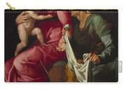 Madonna And Child With Saint Elizabeth And Saint John The Baptist Carry-all Pouch