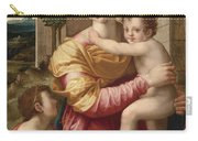 Madonna And Child With Saint John The Baptist Carry-all Pouch