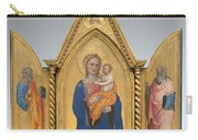 Madonna And Child With Saint Peter And Saint John The Evangelist [middle Panel] Carry-all Pouch