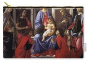 Madonna And Child With Six Saints Carry-all Pouch