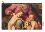 Madonna And Child With The Infant Saint John The Baptist Carry-all Pouch