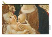 Madonna And Child With Two Angels Carry-all Pouch