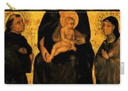 Madonna In Gloria Between Saint Francis And Santa Chiara Gentile Carry-all Pouch