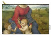 Madonna In The Meadow Carry-all Pouch by Raphael