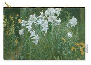 Madonna Lilies In A Garden Carry-all Pouch by Walter Crane