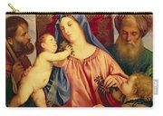 Madonna Of The Cherries With Joseph Carry-all Pouch