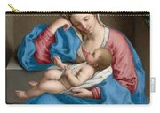 Madonna With The Infant Christ Child Holding A Goldfinch On A String  Carry-all Pouch