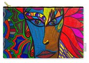 Magdalena On Fire - Mask - Abstract Face Carry-all Pouch