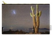 Magellanic Clouds And Forked Cactus Incahuasi Island Bolivia Carry-all Pouch