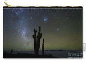 Magellanic Clouds Milky Way And Cactus Silhouette Incahuasi Island Bolivia Carry-all Pouch
