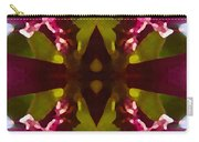 Magent Crystal Flower Carry-all Pouch