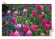 Magenta And White Tulips Carry-all Pouch