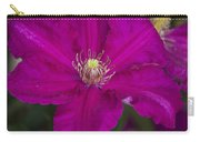Magenta Clematis Carry-all Pouch