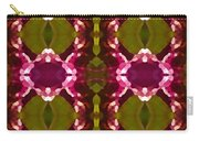 Magenta Crystal Pattern Carry-all Pouch