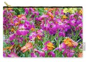 Magenta Floral Pattern Carry-all Pouch