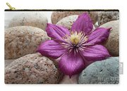 Clematis Flower On Meditation Stones Carry-all Pouch