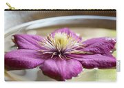 Peaceful Clematis Carry-all Pouch