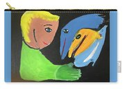 Magical Encounter Between A Boy And Creatures Of The Sea Carry-all Pouch
